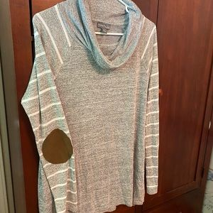 Market and spruce (L) elbow patch top